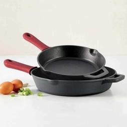 10'' and 12'' Tramontina 2-piece Cast Iron Skillets w/ Remov