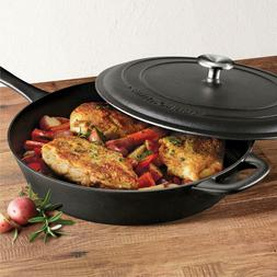 "Tramontina 12.5"" Covered Cast Iron Skillet"