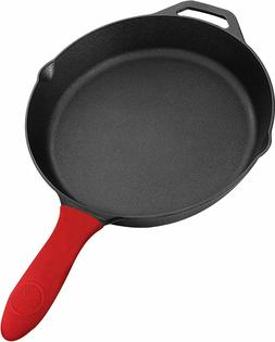 "Pre Seasoned Cast Iron Skillet Cookware 12.5"" & 10.5"" by Uto"