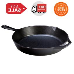 12 In. Cast Iron Skillet Frying Pan Fry Stove Grill Campfire