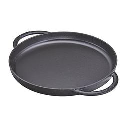 "Staub 12282623 Round Double Handle Pure Griddle, 10"", Matte"