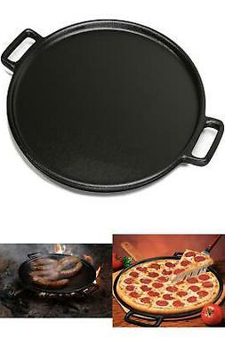 14 inch Cast Iron Pizza Pan Skillet Kitchen Cookware Sturdy