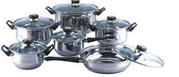 18/10 STAINLESS STEEL Gourmet Chef 12-piece Covered Cookware
