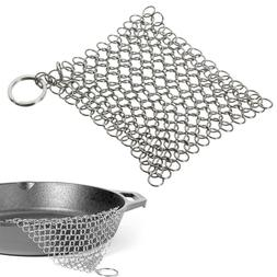 Stainless Steel Skillet Cast Iron Cleaning Chainmail Ringer