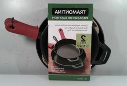Tramontina 2-piece Cast Iron Skillets with Silicone Grips, P