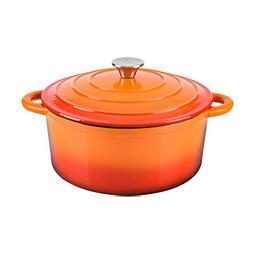 Hamilton Beach 5.5 Quart Enameled Cast Iron Covered Round Du