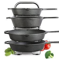 BetterThingsHome 5-Tier Height Adjustable Pan and Pot Organi