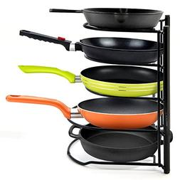 5-Tier Heavy Duty Pot Pan Organizer Pot Racks Cookware lids