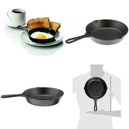"""8"""" Cast Iron Skillet Small Pre-Seasoned Skillet for Stovetop"""