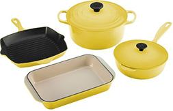 Le Creuset 6-Piece Signature Enameled Cast-Iron Cookware Set