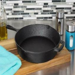 Black Non Stick Cast Iron Skillet 12 in.Durable Home Kitchen