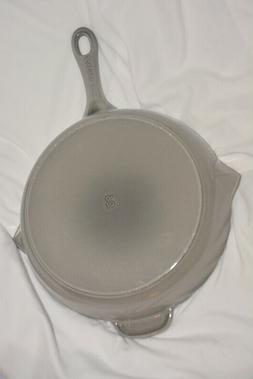 """Staub Cast Iron 10"""" Frying Pan Grey With Spouts Made In Fran"""