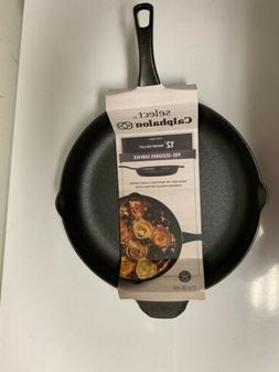 "Calphalon Cast Iron 12"" Round Skillet PRE-SEASONED New"