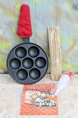 Cast Iron Pancake Puffs Baking Skillet Pan with Accessories,
