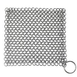 Cast Iron Cleaner Scrubber XL 7x7 Stainless Steel Chainmail