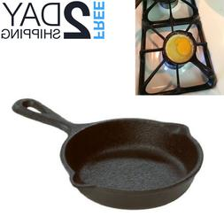 Cast Iron Fire Cooking Skillet Compact Frying Pan Camping Co