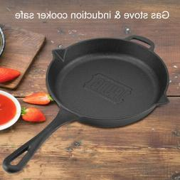 Cast Iron Frying Pan Skillet Utensil Cookware for Gas Stove