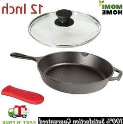 Cast Iron Griddle Pan Pre Seasoned Skillet 12 Inch with Temp