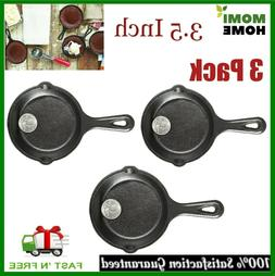Cast Iron Griddle Pan Pre Seasoned Skillet Cookware Mini Sma