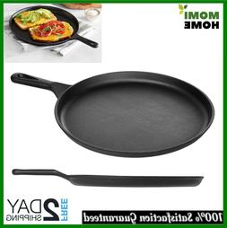 Cast Iron Griddle Pan Pre Seasoned Skillet Cookware for Stov