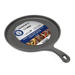 Cast Iron Grill Frying Pan Pizza Meal Veggie Griddle Round C