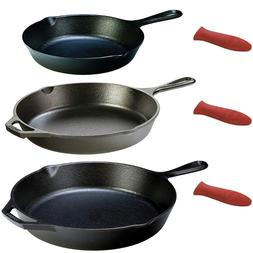 LODGE Cast Iron Pan Set Seasoned Kitchen Cookware Frying Coo