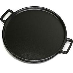 Cast Iron Pizza Pan Pancake Frying Skillet Kitchen Cookware