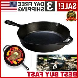 Cast Iron Skillet 10.25 Oven Fry Pan Pot Cookware Pre-season