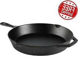 "Cast Iron Skillet 12"" Pre-Seasoned Frying Cookware Cooking F"