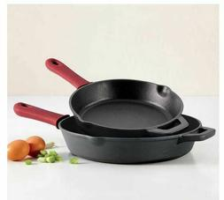 Cast Iron Skillet For Chicken Steak Bacon Removable Silicone