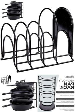 Cast Iron Skillet Pot Rack Kitchen Holder And Cookware Stora