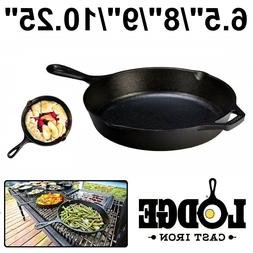 CAST IRON SKILLET Lodge Pre Seasoned Stove Top Oven Fry Pan