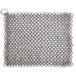 Hulless Chainmail Scrubber 8x6 inch Stainless Steel Rust Pro