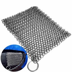 """Mythrojan Chainmail Scrubber Stainless Steel Skillet 8""""x6"""""""