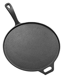 American Metalcraft CILP12 Low-Profile Round Cast Iron Pans,