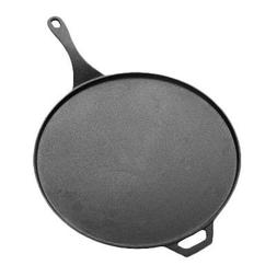 American Metalcraft CILP14 Low-Profile Round Cast Iron Pans,