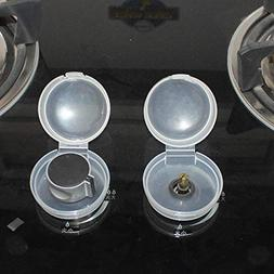NEW 2Pcs Clear Safety Stove And Oven Knob Cover Gas Stove Lo