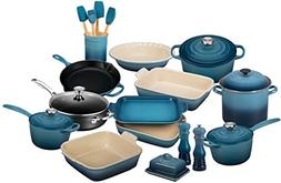 Le Creuset 23-Piece Complete Kitchen Set - Marine Blue