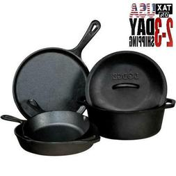 Cookeware Set Kitchen Cast Iron Set 5-Piece Home Kitchen Din