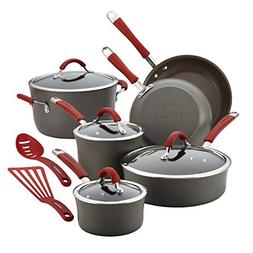 Rachael Ray® Cucina 12-pc. Cranberry Red Hard Anodized C