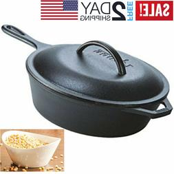 Deep Cast Iron Skillet Frying Baking Soup LODGE Chicken Frye