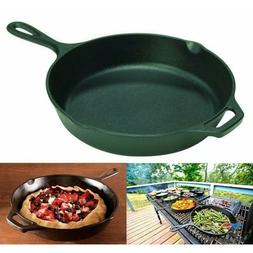 Deep Frying Pan Cast Iron Griddle 10 Inch Non Stick Skillet