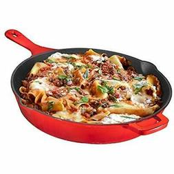 Enameled All Pans Cast Iron Skillet, 12 Inch, By Kitchen &am