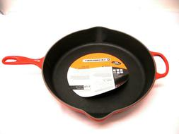 Le Creuset Enameled Cast-Iron 13 1/3-Inch Skillet,   FREE SH