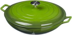 AmazonBasics Enameled Cast Iron Covered Casserole - 3.3-Quar