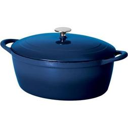 Tramontina Gourmet 7-Quart Cast Iron Covered Oval Dutch Oven