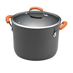 Rachael Ray Hard-Anodized Nonstick 10-Quart Covered Stockpot