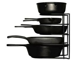 Heavy Duty Pots And Pans Racks Organizer 5-Tier Rack For Cas