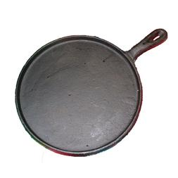 Heavy Duty Tortilla Cast Iron Griddle Round Skillet Comal Fl