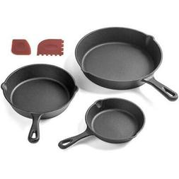 Iron Skillet Non-stick Cast Frying Pan Cooking Pot Kitchen A